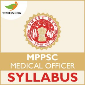 MPPSC Medical Officer Syllabus 2019
