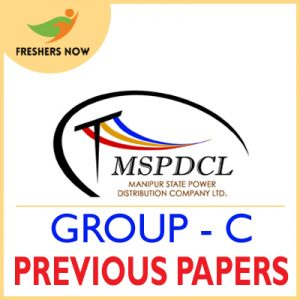 MSPDCL Group C Previous Papers