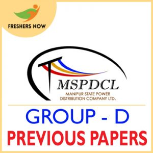 MSPDCL Group D Previous Papers