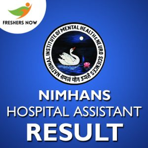 NIMHANS Hospital Assistant Result 2019