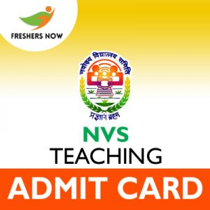 NVS Teaching Admit Card 2019