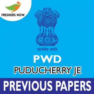 PWD Puducherry JE Previous Papers