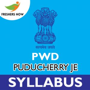 PWD Puducherry JE Syllabus 2019