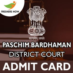 Paschim Bardhaman District Court Admit Card 2019