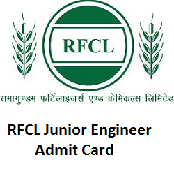 RFCL Junior Engineer Admit Card 2019