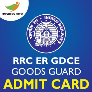 RRC ER GDCE Goods Guard Admit Card 2019
