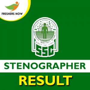 SSC Stenographer Result 2019
