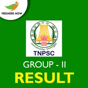 TNPSC Group II Result 2019