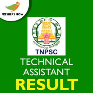 TNPSC Technical Assistant Result 2019