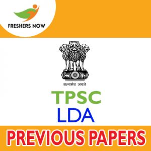 TPSC LDA Previous Papers