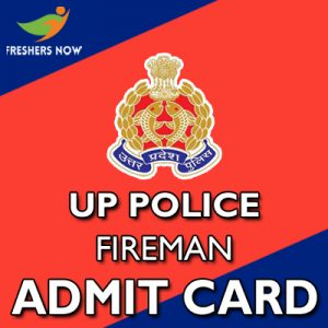 UP Police Fireman Admit Card 2019