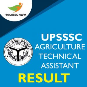 UPSSSC Agriculture Technical Assistant Result 2019