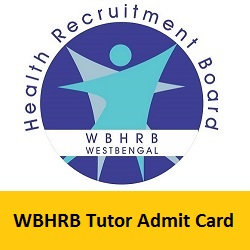 WBHRB Tutor Admit Card 2019