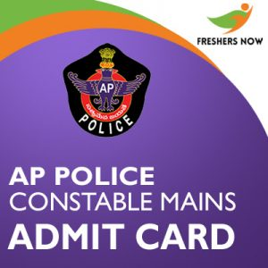 AP Police Constable Mains Admit Card 2019