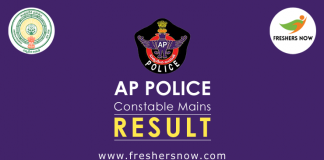 AP Police Constable Mains Result 2019