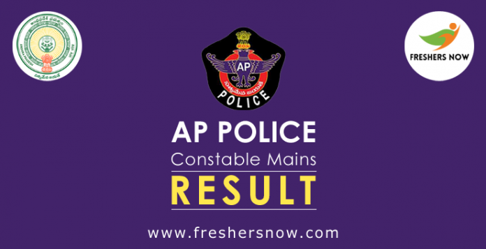 AP Police Constable Mains Result 2019 Released - Cut Off, Merit List