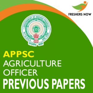 APPSC Agriculture Officer Previous Papers