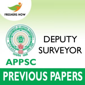 APPSC Deputy Surveyor Previous Papers