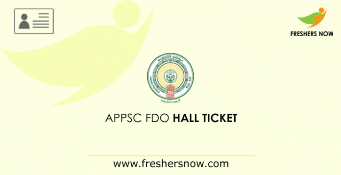 APPSC FDO Hall Ticket 2019