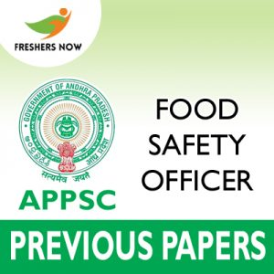 APPSC Food Safety Officer Previous Papers 2019