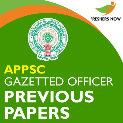 Past documents from the official APPSC official