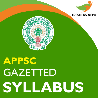 Official APPSC Syllabus 2019