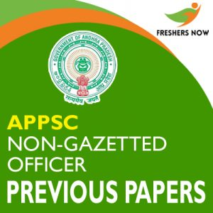 APPSC Non-Gazetted Officer Previous Papers