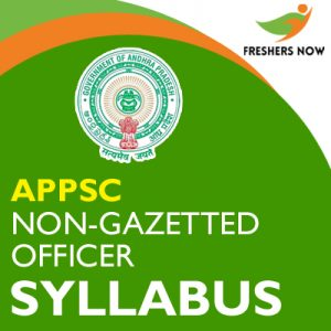 APPSC Non-Gazetted Officer Syllabus 2019