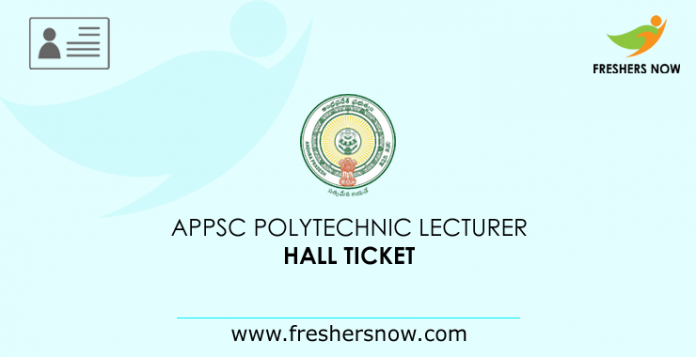 APPSC Polytechnic Lecturer Hall Ticket
