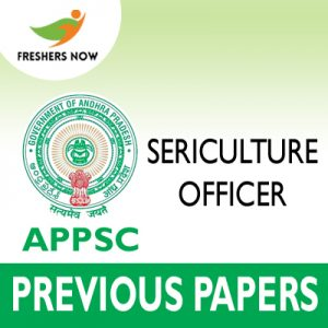 APPSC Sericulture Officer Previous Papers