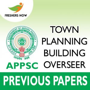 APPSC Town Planning Building Overseer Previous Papers