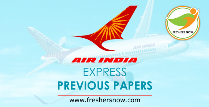 Air India Express Previous Papers