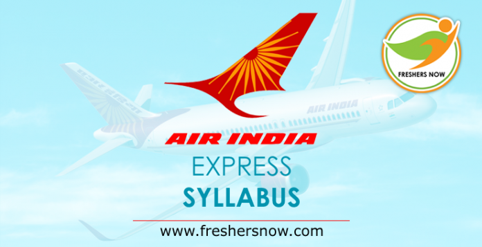 Air India Express Syllabus 2019
