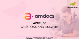 Amdocs Aptitude Questions and Answers