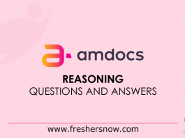 Amdocs Reasoning Questions and Answers