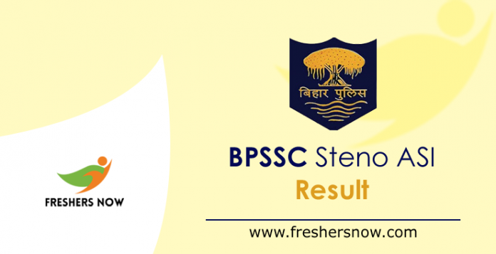 BPSSC Steno ASI Result 2019