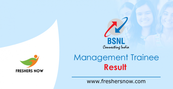 BSNL Management Trainee Result 2019