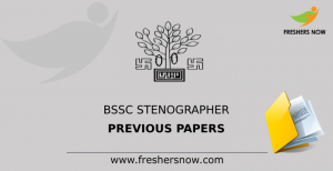 BSSC Stenographer Previous Papers