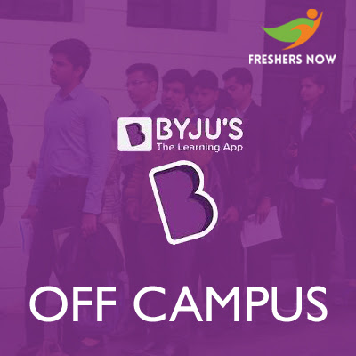 Byju's Off Campus 2019