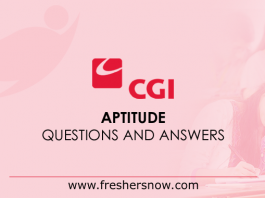 CGI Aptitude Questions and Answers