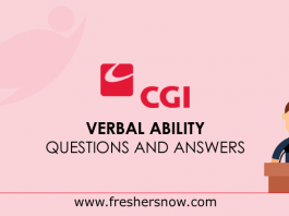 CGI Verbal Ability Questions and Answers