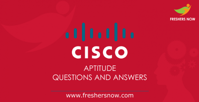 Cisco Aptitude Questions and Answers