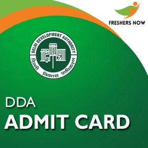 DDA Admit Card 2019