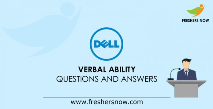 Dell Verbal Ability Questions and Answers