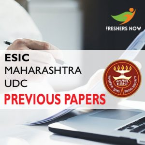 ESIC Maharashtra UDC Previous Papers