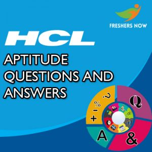 HCL Aptitude Questions