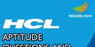 HCL Aptitude Questions
