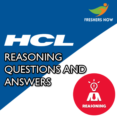 HCL Reasoning Questions and Answers