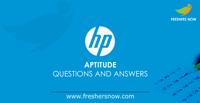 HP Aptitude Questions and Answers