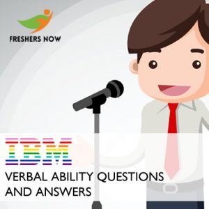 IBM Verbal Ability Questions and Answers